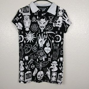Killstar Graphic Collared Tunic/Dress. M